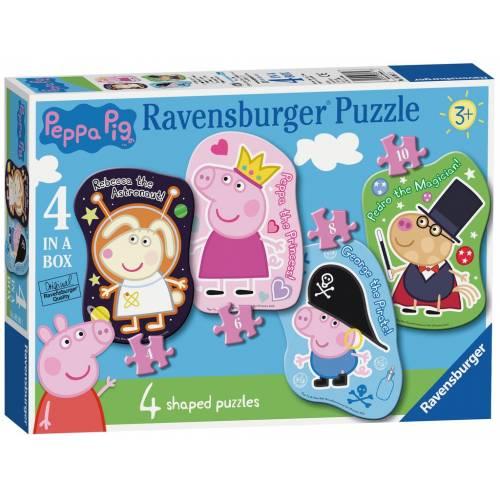 Ravenburger 4 Shaped Puzzles Pepper Pig