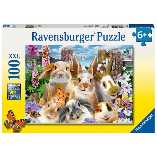 Ravensburger 100 XXL Piece Puzzle Rabbit Selfie