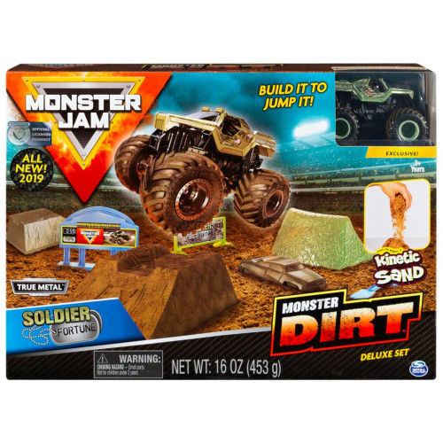 Monster Jam Monster Dirt Deluxe Set - Soldier Fortune