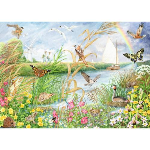 Falcon de luxe Norfolk Broads 1000pc Jigsaw Puzzle