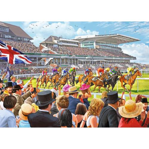Falcon de luxe Racing To the Finish 1000pc Jigsaw Puzzle