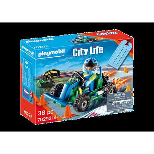 Playmobil 70292 City Life Go-Kart Racer Gift Set