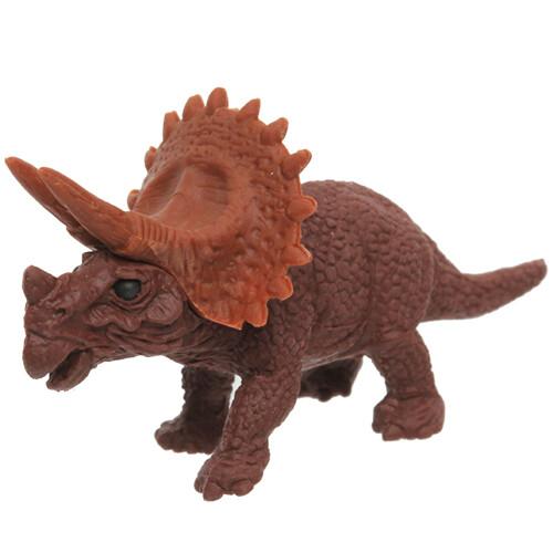 Iwako Puzzle Eraser - Dinosaur - Triceratops (Brown)