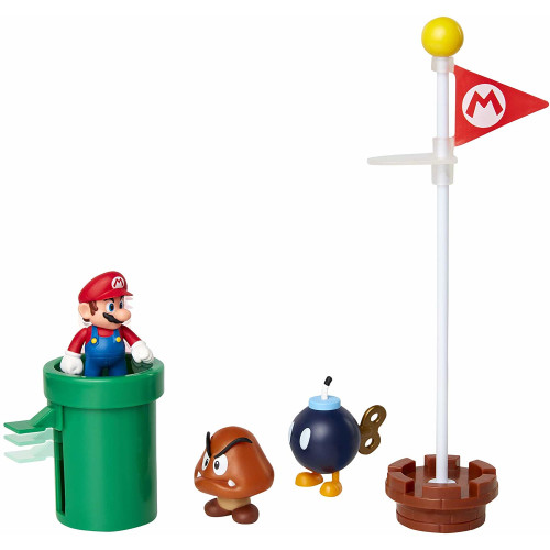 Super Mario 2.5 Inch Figures - Acorn Plains Diorama Set