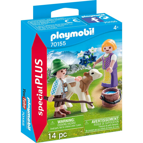 Playmobil 70155 Children with Calf