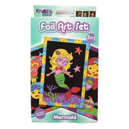 Kreative Kids - Foil Art Set - Mermaid