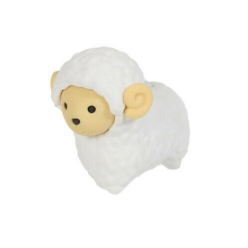 Iwako Puzzle Eraser - Sheep and Alpaca - Sheep (White)