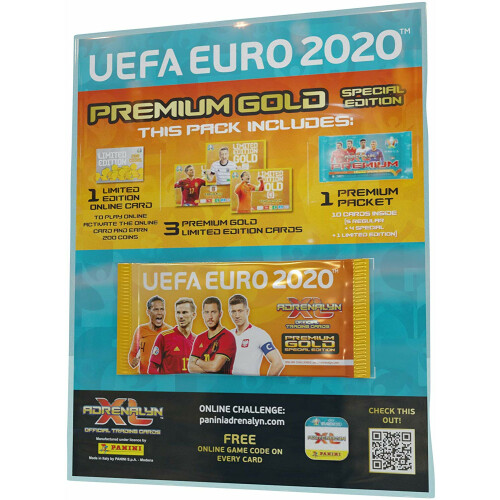 Euro 2020 Adrenalyn XL Cards - Premium Gold Pack