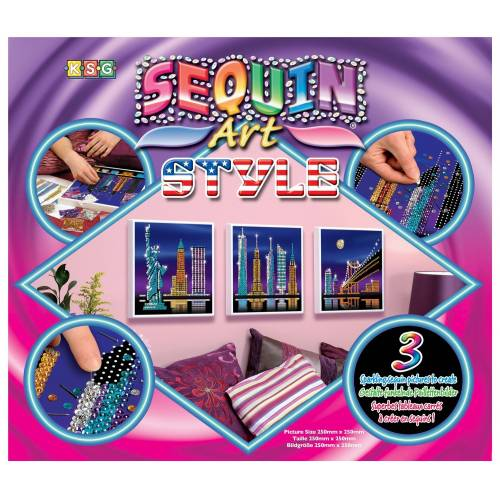 Sequin Art Ltd. Sequin Art Style New York Skyline 1417