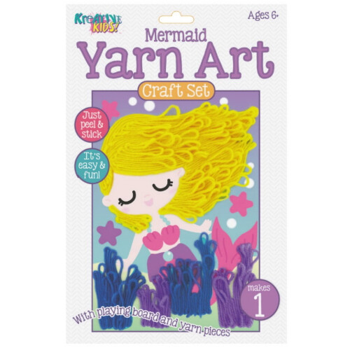 Kreative Kids - Yarn Art Craft Set Mermaid
