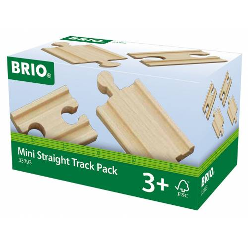 Brio 33393 Mini Straight Track Pack