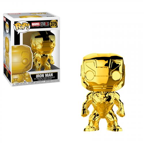 Funko Pop Vinyl Gold Chrome Iron Man 375