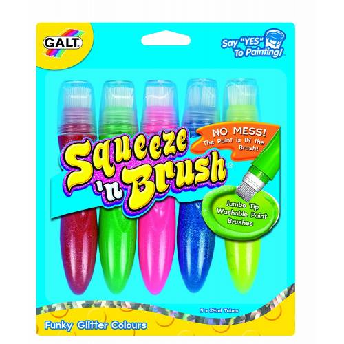 Galt Squeeze n' Brush Funky Glitter Colours