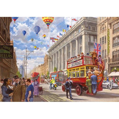 Gibsons Oxford Street - Then & Now 1000pc