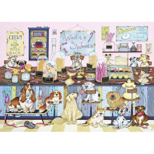 Gibsons Woofit's Sweet Shop 1000pc