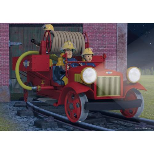 Jumbo 35pc Puzzles Fireman Sam On Our Way!