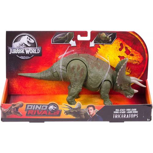 Jurassic World Dino Rivals Dual Attack Triceratops
