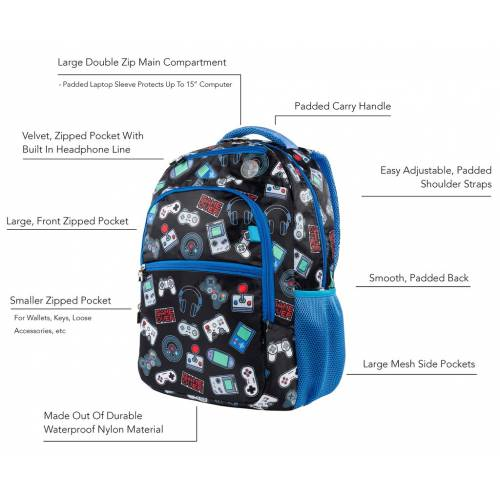 Kids Backpack - Gamer