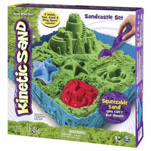 Kinetic Sand Green Sandcastle Set