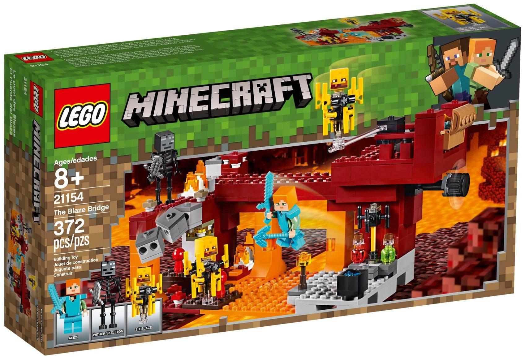Lego 21154 Minecraft The Blaze Bridge Toys N Tuck