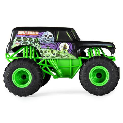 Monster Jam Grave Digger Remote Control Monster Truck, 1:24 Scale