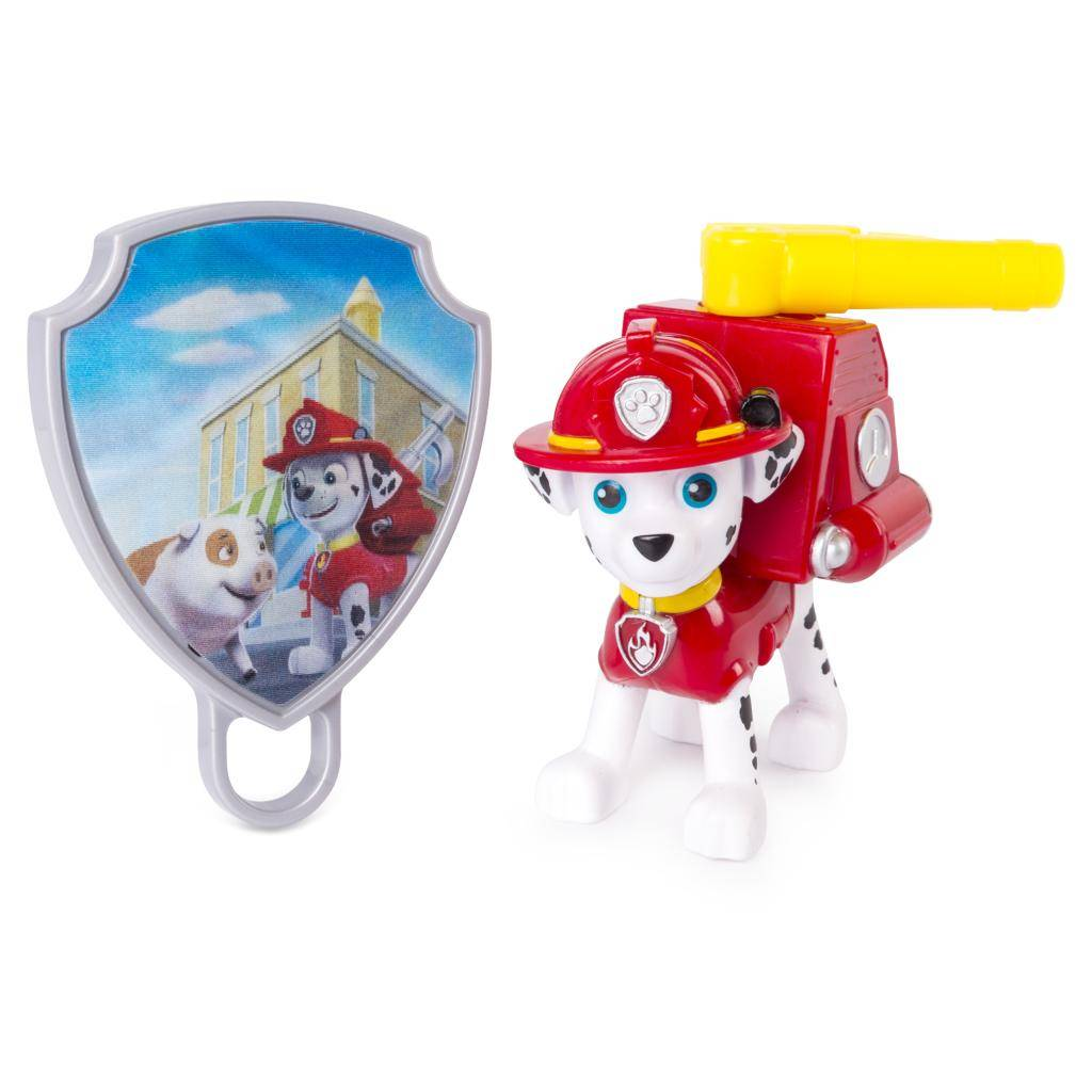 Paw Patrol Action Pack Pup with Extendable Hook and Badge - Marshall