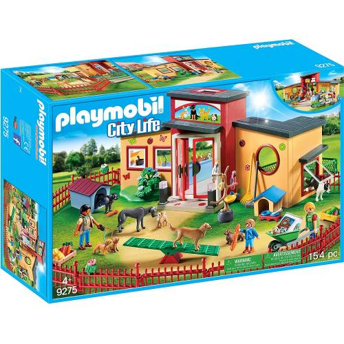 Playmobil 9275 City Life Tiny Paws Pet Hotel with Flexible Outdoor Fence