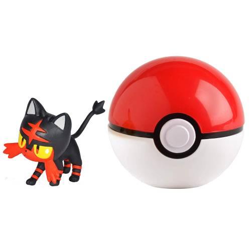Pokemon Clip 'n' Go - Litten & Pokeball