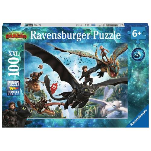 Ravensburger 100 XXL Piece Puzzle How To Train Your Dragon The Hidden World