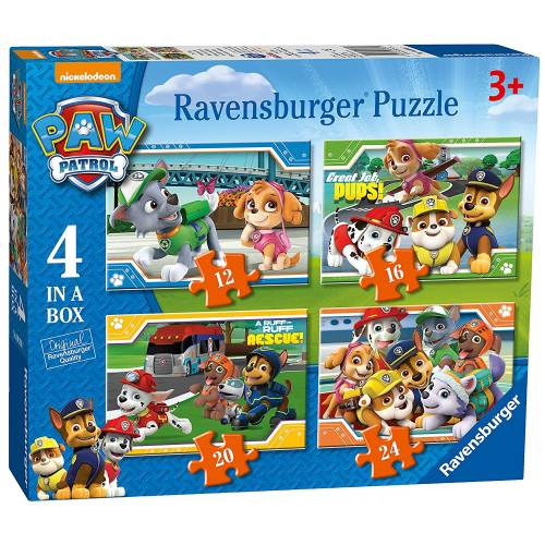 Ravensburger 4 Puzzles in a Box Paw Patrol.