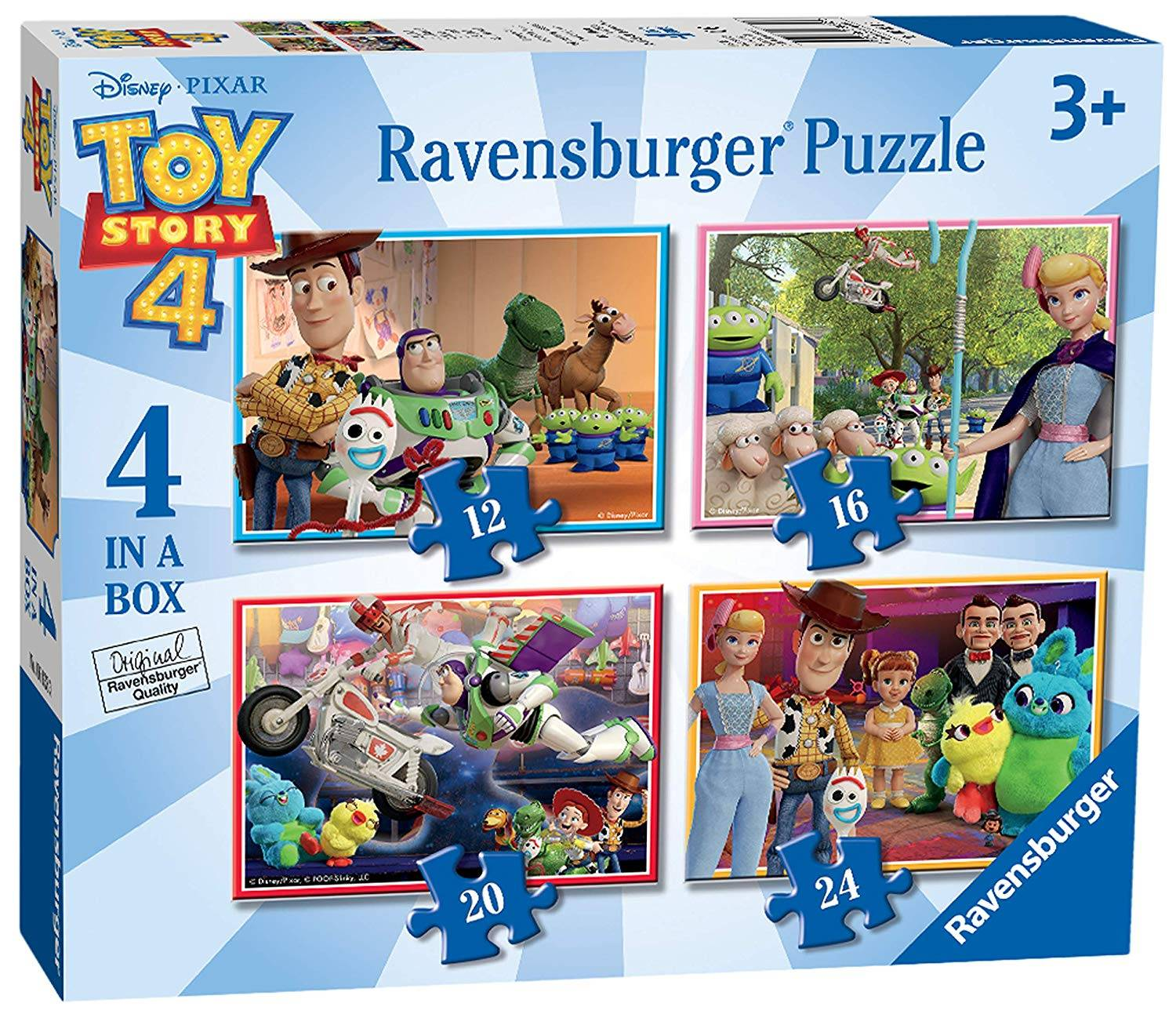 Ravensburger 4 Puzzles in a Box Toy Story 4