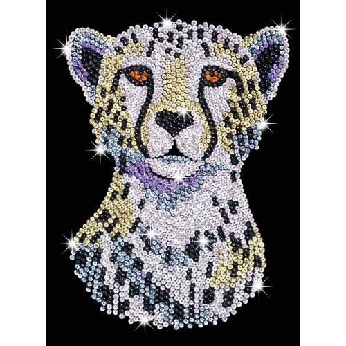 Sequin Art Limited. Sequin Art Blue Snowy Cheetah 1605