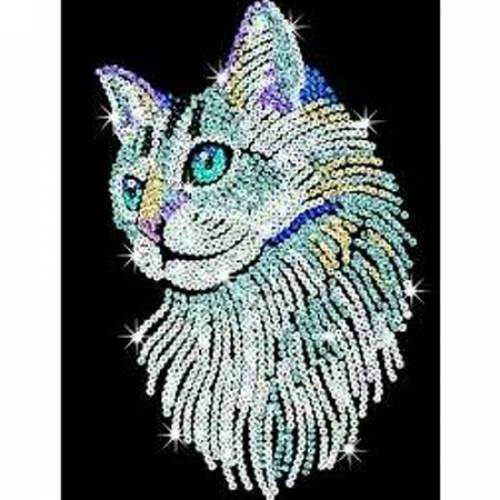 Sequin Art Limited. Sequin Art Blue White Cat 1711