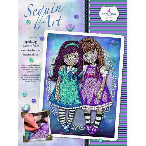 Sequin Art Limited.Sequin Art Gorjuss Friends Walk Together1802