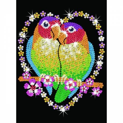 Sequin Art Ltd. Sequin Art Blue Love Birds 1002