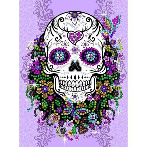 Sequin Art Ltd. Sequin Art Teen Craft Flower Skull 1824