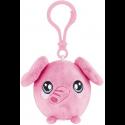 Squeezamals Series 2 Clip on Plush - Pink Elephant