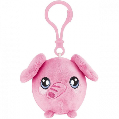 Squeezamals Series 2 Clip on Plush - Pink Elephant