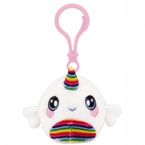 Squeezamals Series 2 Clip on Plush - Rainbow Narwhal