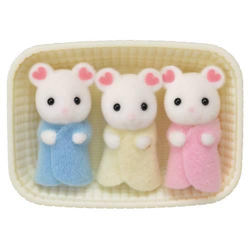 Sylvanian Families Marshmallow Mouse Triplets