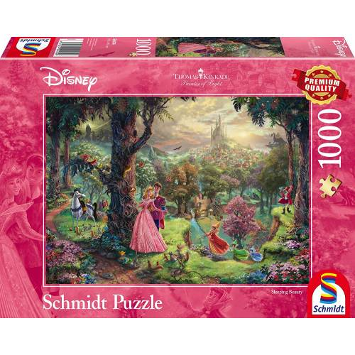 Thomas Kinkade Disney Sleeping Beauty 1000pc Jigsaw Puzzle